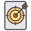 business, finance, goal, management, marketing, target icon