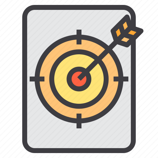 business, finance, goal, management, marketing, target icon