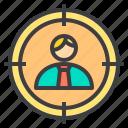 business, finance, find, head, hunter, management, marketing icon