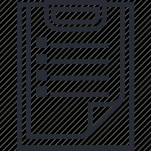 List, business, checklist, clipboard icon - Download on Iconfinder