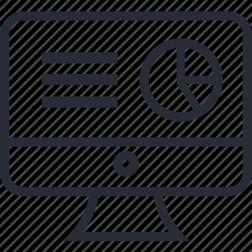 Presentation, business, chart, computer, pie icon - Download on Iconfinder
