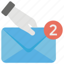 email, envelope, letter cover, message cover, message notification icon