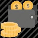 billfold, money wallet, pocketbook, purse, wallet icon