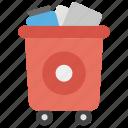 dustbin, garbage container, trash bin, waste bin, waste bucket icon