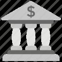 architecture, bank, building exterior, columns building, treasury icon