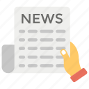 journal, magazine, newspaper, press, scandal sheet icon