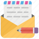 compose mail, draft email, e messages, internet messages, online messages icon
