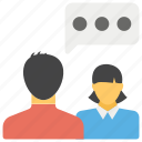 chatting, comments, conversation, forum discussion, social media icon
