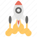 launching, missile, rocket, starting business, startup icon