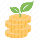 business enhancement, business growth, dollar plant, financial growth, investment icon