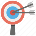 business goal, business target, dartboard, target campaign, trade target icon