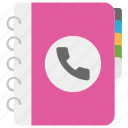 address book, contact book, contact dairy, phone book, phone notebook icon