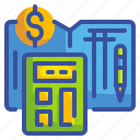 accounting, banking, business, calculator, finance, money, savings icon