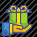 bonus, business, delivery, gestures, hand, hands, money icon