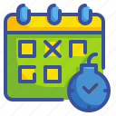 business, calendar, date, deadline, finance, time, web icon