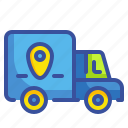 business, delivery, gps, logistics, shipping, transport, trucks icon