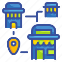 commerce, location, maps, market, shop, shopping, store icon