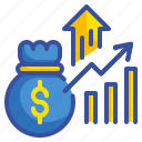 profit, graph, statistics, stats, business, money, finances icon