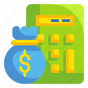 budget, business, calculator, capital, cost, finance, money icon