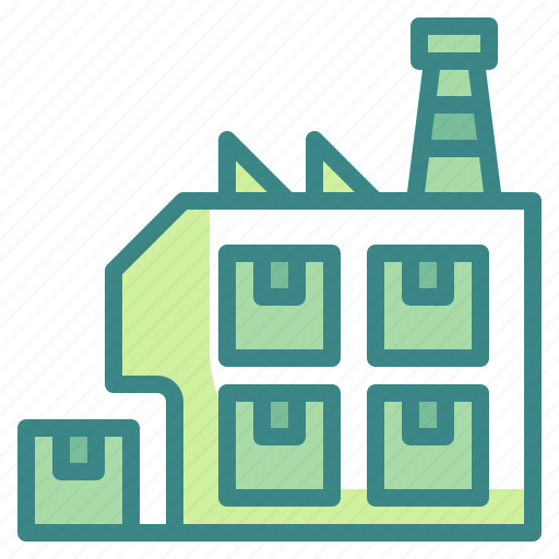 box, delivery, factories, inventory, shipping, storage, warehouse icon
