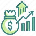 statistics, money, finances, graph, stats, profit, business icon