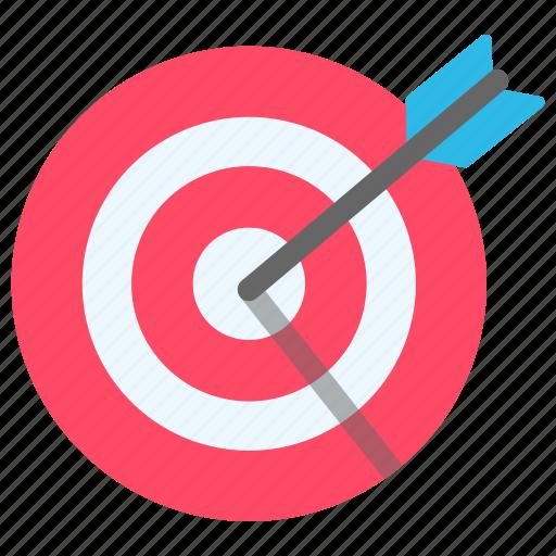 arrow, business, goal, target icon