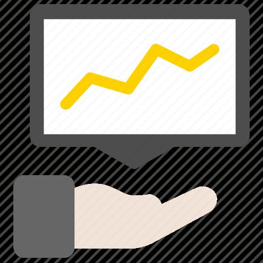 business, forecast, presentation, progress icon