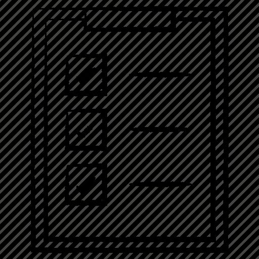 board, clipboard, document, paper icon