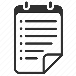bullets, document, file, list, organizer, report, text, todo icon