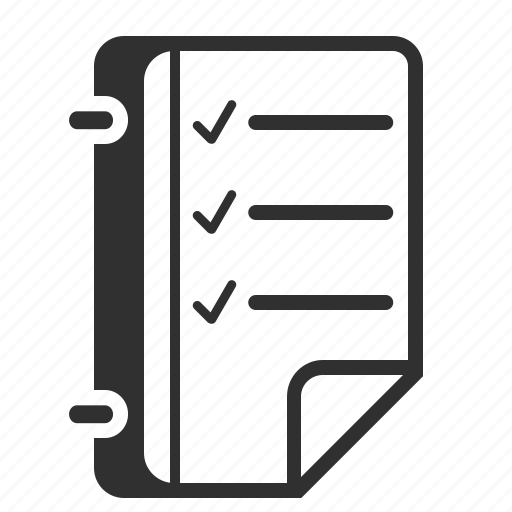 book, business, document, list, notebook, plan, schedule, tasks, text icon