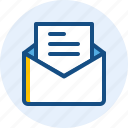 business, document, email, finance, mail icon