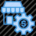 business, finance, management, marketing, shop icon