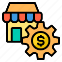 business, finance, management, marketing, shop icon