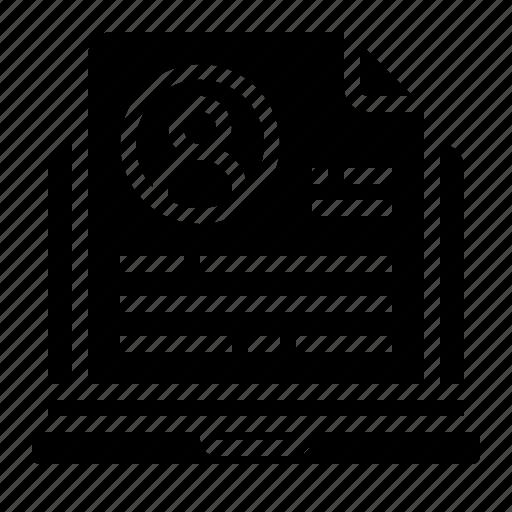 computer, online, profile icon