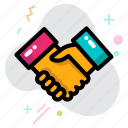 business, business deal, corporation, deal, handshake, partnership icon