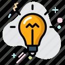 bulb, business, creative, electricity, idea icon