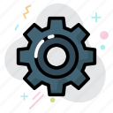 business, gear, setting, tool, work icon
