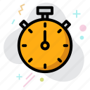 business, stop watch, time management, timer icon