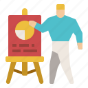 board, chart, conference, pie, presentation icon