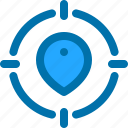 business, goal, location, target icon