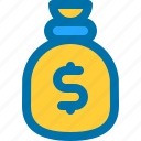 bag, business, dollar, money, moneybag icon