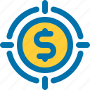 business, goal, money, target icon