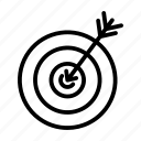 aim, precision, focus, goal, statement, objective, target icon
