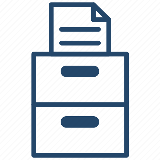 business, cabinet, data, document icon