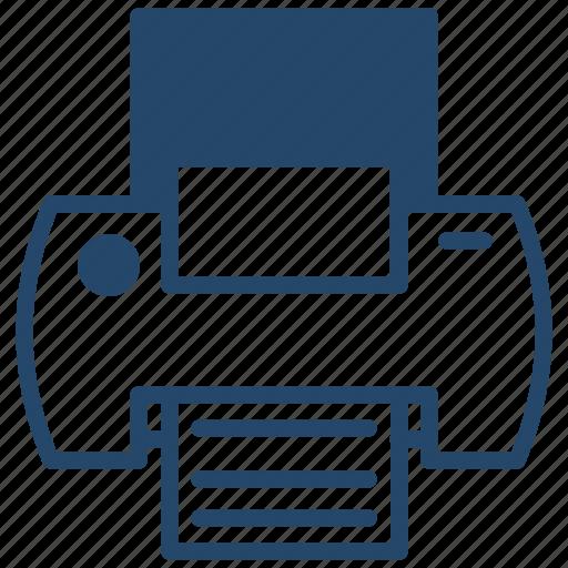 business, data, printer icon
