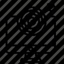 arrow, computer, dart, game, monitor icon