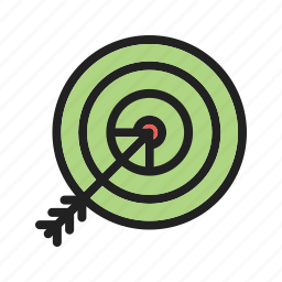 accuracy, business, focus, goal, strategy, success, target icon
