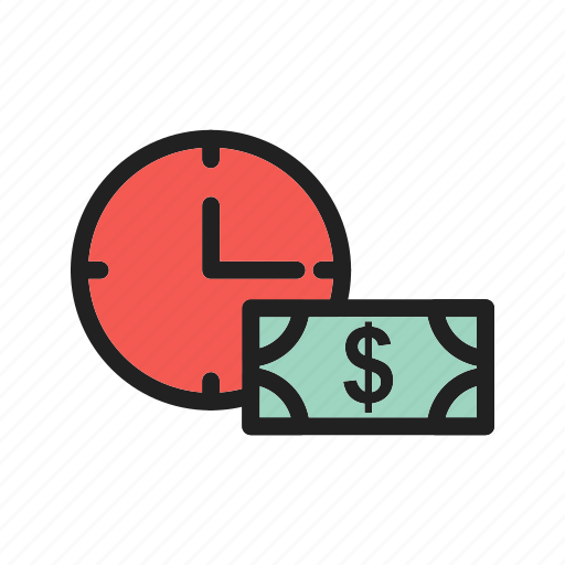 business, currency, finance, money, office, time, work icon