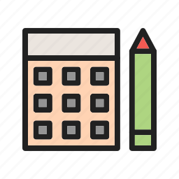 accountant, budget, business, calculator, financial, office, tax icon
