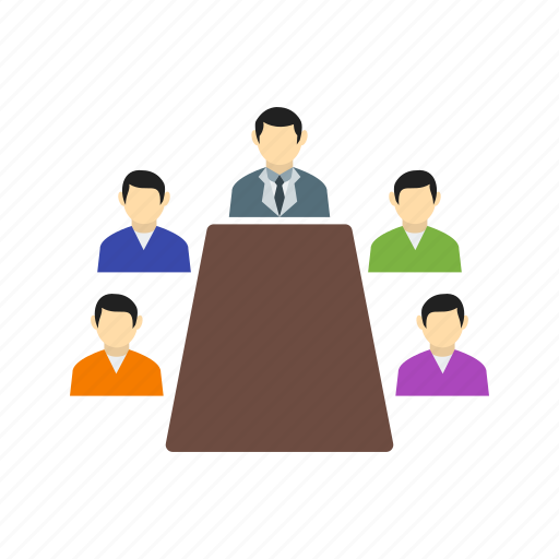 audience, business, conference, meeting, people, presentation, speaker icon